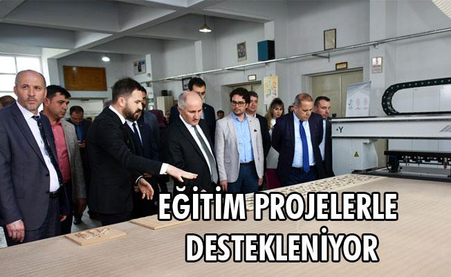 EĞİTİM PROJELERLE DESTEKLENİYOR