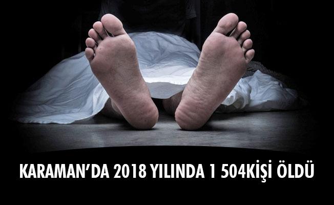 KARAMAN'DA 2018 YILINDA 1 504KİŞİ ÖLDÜ
