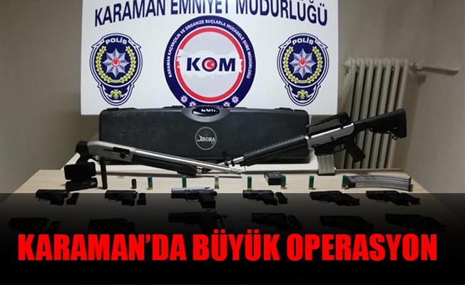Karaman'da Büyük Operasyon