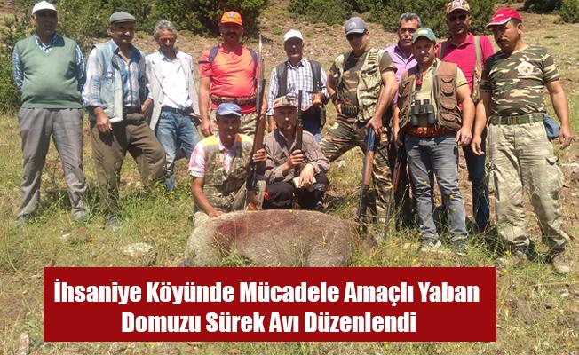 İhsaniye Köyünde Mücadele Amaçlı Yaban Domuzu Sürek Avı Düzenlendi