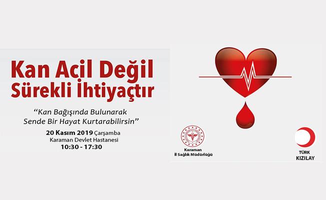 Kızılay ve İl Sağlık Müdürlüğünden Kan Bağışı Çağrısı;