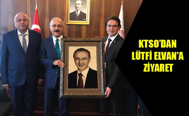 KTSO'DAN LÜTFİ ELVAN'A ZİYARET