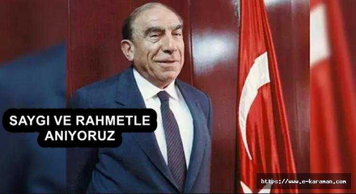 Başkan Kalaycı'nın Başbuğ  Alparslan Türkeş'i Anma Mesajı