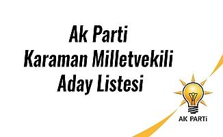 Ak Parti Karaman Milletvekili Aday Listesi