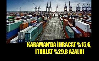 KARAMAN'DA İHRACAT %15,6, İTHALAT %29,8 AZALDI